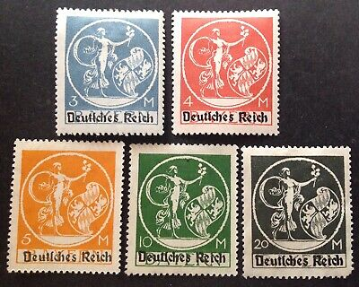 Germany 1920 5 X Stamps To 20m Black Mint Hinged