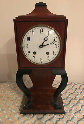 Wooden Antique Table Clock Vintage Desk Mantel Mechanical Clockwork Home Decor