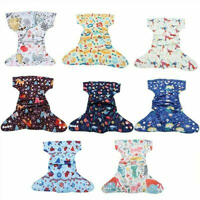 Reusable Infant Swim Diaper Washable Pocket Cloth Hook Loop Size Adjustable