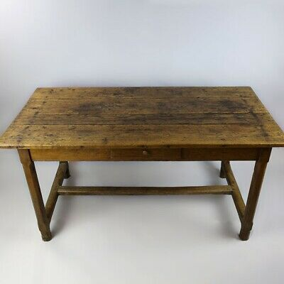 Antique Early 19th C c1800 French Fruitwood Kitchen / Preparatory / Dining Table