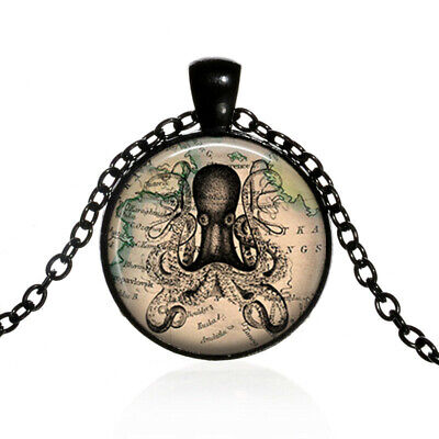 Z185 Silver 37mm Animal Octopus Alloy Stainless Necklace Locket Beads Cage