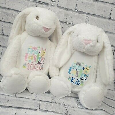 Personalised Easter Bunny, Teddy Bear, Embroidered, Rabbit, Gift,