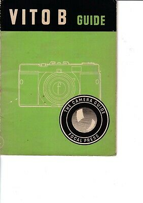 Genuine Vintage 1955 1St Edition Focal Press Instruction Guide Book Vito B