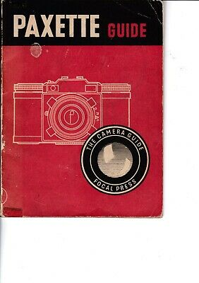 Genuine Vintage 1958 5Th Edition Focal Press Instruction Guide Book Paxette