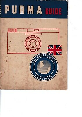 Genuine Vintage 1948 1St Edition Focal Press Instruction Guide Book Purma