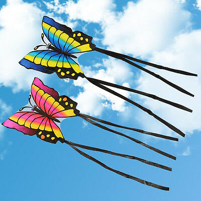Large Children's Easy to Fly Single Line Butterfly Kite Kids Funny Outdoor Sport