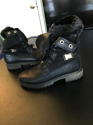 c93632697fdc WOMENS TIMBERLAND 8658A 6 Inch Premium Black Nubuck Hiking Boots ...