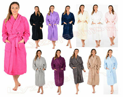 Unisexcotton Terry Towelling Bath Robe Luxury Egyptian  Dressing Gown Towel Soft