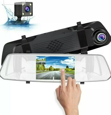 SUAOKI Dash Cam 1080p Full-HD Car DVR With HD Rear-View Camera