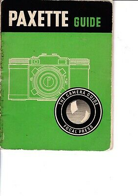 Genuine Vintage 1956 2Nd Edition Focal Press Instruction Guide Book Paxette