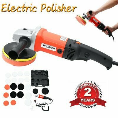 710W Electric Polisher Sander Buffer Car Polishing 6 Speed & Soft Mop Motor