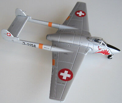Swiss Air Force Stahlmodell Vampire DH100 MK6 Sharkmouth 1:72  limit.