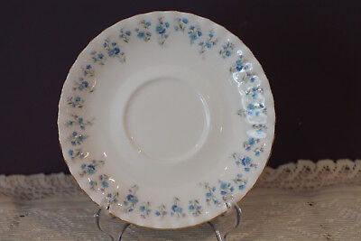 """Royal Albert Memory Lane Cream Soup 6-1/4"""" Saucer Only - Forget-Me-Not Flower"""