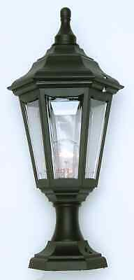 Black Outdoor Lantern IP44 Exterior Garden Post Light E27 Up / Down Mounting