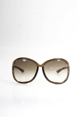 3feb070551c Tom Ford Womens Claudia Oversized Bamboo Style Sunglasses Brown Lens And  Frame