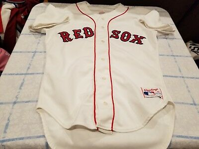 on sale bfdb6 692ad VINTAGE BOSTON RED Sox Rawlings Jersey Throwback 40 Authentic 80's 90's Rare