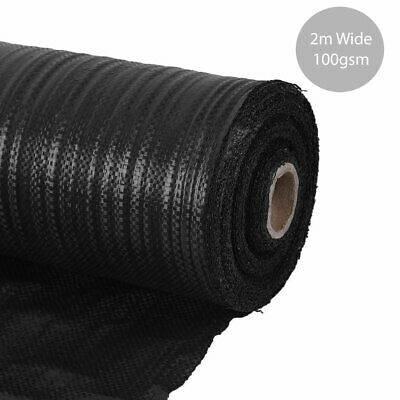 2M wide 10M/25M/100M 100gsm weed control fabric ground cover membrane landscape
