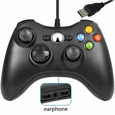 Wired Xbox 360 Controller Shaped Game Controller Gamepad For PC Windows Game
