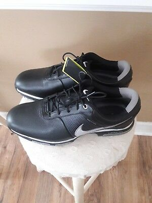 finest selection ee3a8 890e5 Nike Lunarlon Flywire Black Golf Shoes New Size 11 Mens