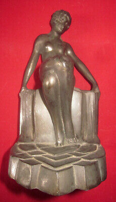 Bronze Spelter ART DECO Sexy Lady Book End