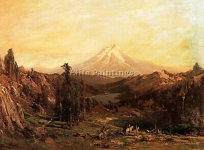 Thomas Hill Mount Shasta And Castle Lake California Artist Painting Reproduction