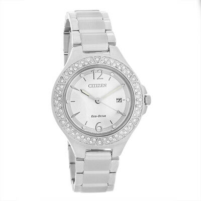 Citizen Eco Drive Ladies Silhouette Stainless Steel Silver Dial Watch FE1160-54A