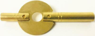 New Brass Double Ended Winding Key For Antique Carriage Clock 3.5mm x 1.75mm