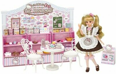 8c6aa67d6 TAKARA TOMY LICCA HOUSE HELLO KITTY Sweets Cafe Box 1/6 9in 22cm JAPAN Blyth