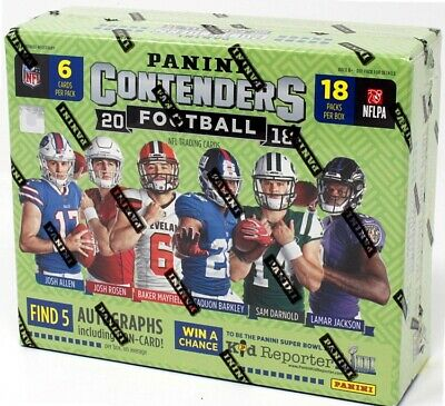 2018 Panini Contenders Football Hobby 12 Box Case Blowout Cards