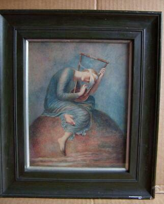 Vintage Framed Print 'hope'...artist G.watts. 1817-1904.