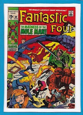 """Fantastic Four #89_August 1969_F/Vf_""""The Madness Of The Mole Man""""_Silver Age!"""