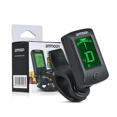 ammoon AT-07 Digital Electronic Clip-On Tuner LCD Screen for Guitar L8G4