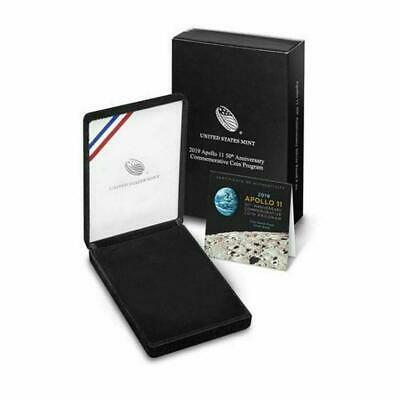 2019 P 5oz Apollo 11 50th Anniv Proof Silver Dollar Commemorative Box & COA Only