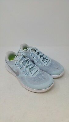 435de58a1005 Womens Free Run 2017 Glacier Blue Metallic Silver Running Shoes Size 9.5