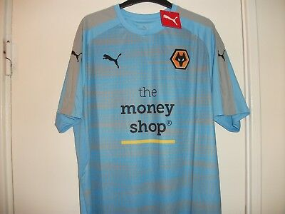 Wolverhampton Wanderers Size Large LTD Away Shirt 2017-18/Wolves Football/NEW