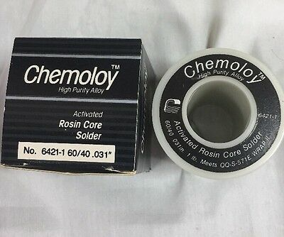 Chemtronics Chemology Solder 1-lb Roll 60/40 .031 Rosin Core  # 6421-1 *NEW