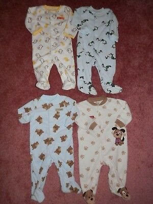7e0a312cd570 LOT BABY BOY Footed Sleepers Size 6 9 Months Place Gymboree -  7.99 ...