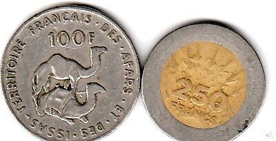 2 different world coins from FRENCH AFRICA