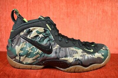 more photos aeefe 1ad4d WORN TWICE Nike Air Foamposite Pro Prm LE Green Camoflauge 587547-300 Size  10