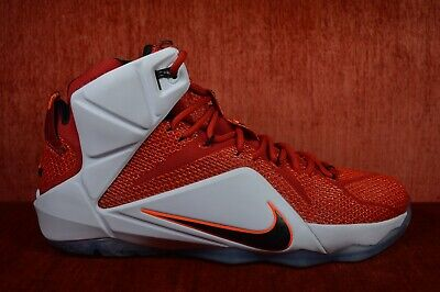 huge discount 7d259 df811 WORN ONCE Nike Lebron XII 12 Heart of a Lion 684593-601 Crimson Red Size