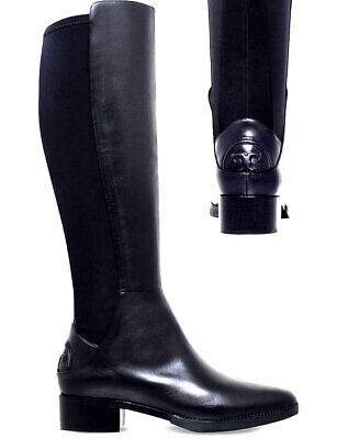 f35944deac6  495 Tory Burch CAITLIN Riding Boot Tall Flat Equestrian Booties Stretch 8