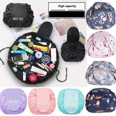 2019 Large Portable Lazy Cosmetic Makeup Drawstring Bag Storage Travel Pouch