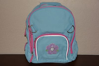 New Pottery Barn Mackenzie Small Backpack Blue With Pink Trim