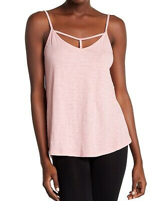 PJ Salvage NEW Pink Womens US Size XL Cutout T-Neck Sleepwear Cami Top $42 736