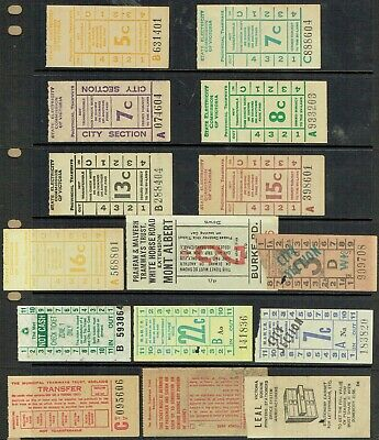 Australia Cinderella Tramways related selection including ticket advertising