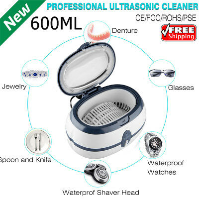 600ml Digital Ultrasonic Cleaner Ultra Sonic Bath Jewellery Cleaning Tank Timer