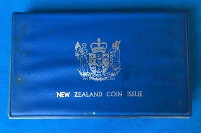 1979 New Zealand 7 coin proof set with case & folder.