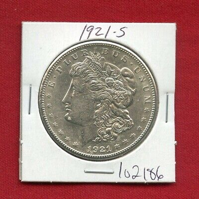 1921 S Morgan Silver Dollar #102186 Brilliant Uncirculated Ms+ Mint State Estate