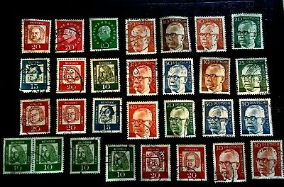 GERMANY West Bundespost Stamps - Famous Germans