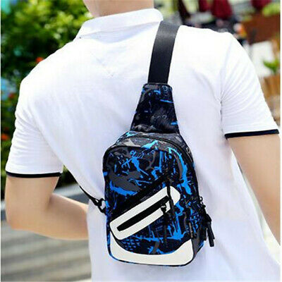 Male Men Crossbody Bags Anti Theft Chest Bag Shoulder Bags USB Charging Jian